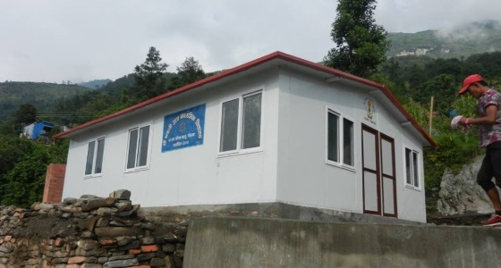 The completed school in Manbu, Gorkha