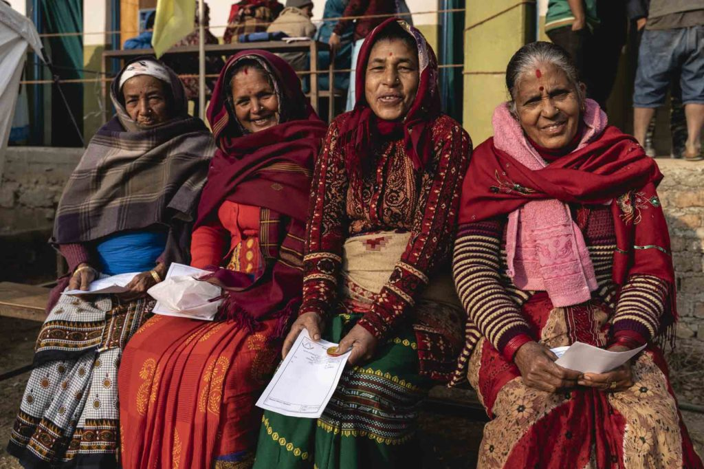 Nepal people, nepali people, ladies, gurkha, widows, medical care, medical camp, smile